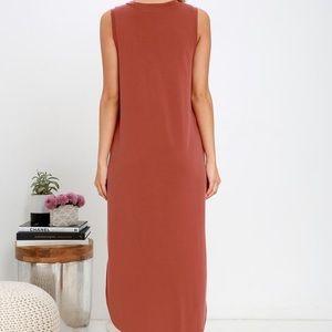 Midnight Lady Washed Red Midi Dress